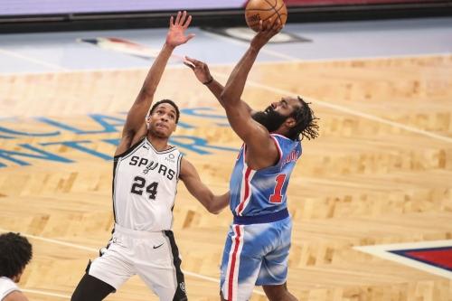 Spurs overcome by Nets firepower in Harden's return