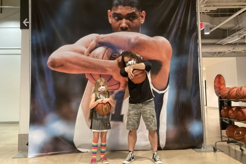 Taking the Tim Duncan tour at the AT&T Center
