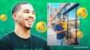 Jayson Tatum's hilarious reaction to Celtics icon Kevin McHale photo op with son Deuce