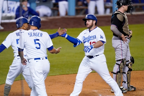 Dodgers enjoy rare easy win over Miami Marlins