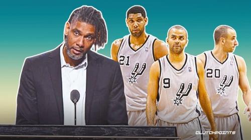 Spurs legend Tim Duncan reignites bromance with Tony Parker, Manu Ginobili during Hall of Fame speech