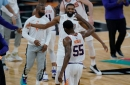 E'Twaun Moore 3 gives Suns dramatic win over Spurs, forcing Jazz to beat Kings for top seed