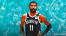 Nets star Kyrie Irving badly rolls ankle after landing on Giannis Antetokounmpo's foot
