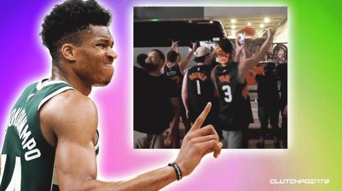 Suns fans flip off Giannis Antetokounmpo, Bucks team bus after NBA Finals Game 2