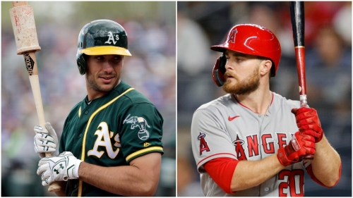 Matt Olson happy to reunite with Angels' Jared Walsh at All-Star Game