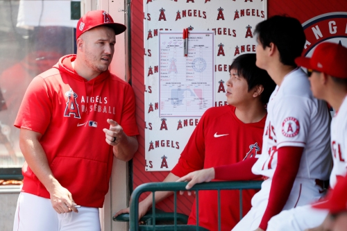 Mike Trout runs the bases, moves a step closer to return to Angels