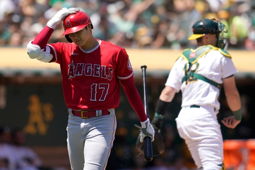 Angels' hitters come up empty in loss to A's