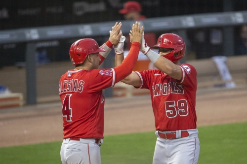 Jack Mayfield's home run is difference maker in Angels' win