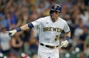 Christian Yelich finds power stroke, mashes two home runs to lead Brewers to 9-6 win over Nationals