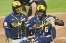 Power surge pushes Brewers past Cleveland, 10-3