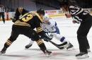 When the season starts, who are Boston's four centers?