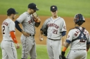 Greinke gets pounded as the Astros fall 8-1 to the Rangers