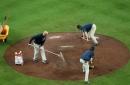 Braves, Rockies rain delay updates