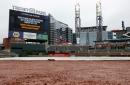 Rockies at Braves Game 3 postponed (rain)
