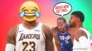 Lakers' LeBron James laughs at Kawhi Leonard, Paul George's viral Clippers video