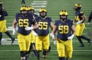 How Michigan football's Zak Zinter wound up wearing a club on his right hand