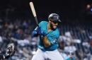 Mariners second baseman Abraham Toro sits after playing 47 consecutive days