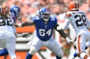 Giants' roster moves: Jonotthan Harrison, Foster Sarell added to practice squad