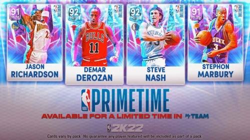 NBA 2K22 Primetime II Packs and Locker Codes for One Week