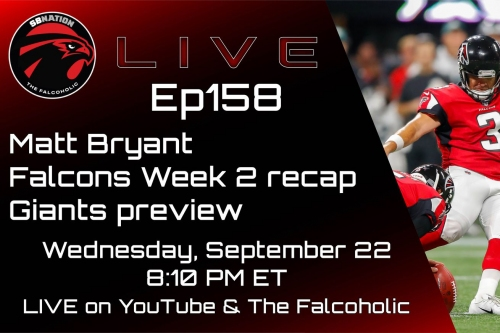 Matt Bryant, Falcons Week 2 recap & Giants preview: The Falcoholic Live, Ep158