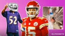 Chiefs star Patrick Mahomes reacts to brother pouring water on Ravens fans