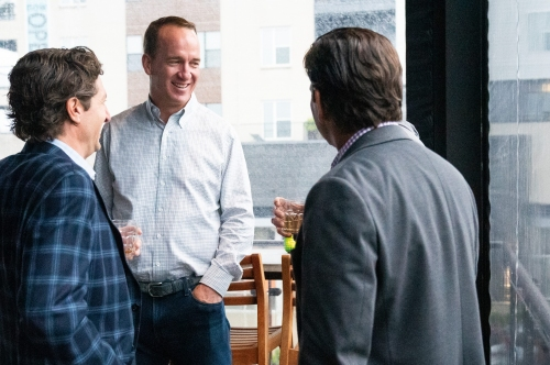 Peyton Manning hangs out at his Fishers bar, drinking his bourbon, schmoozing