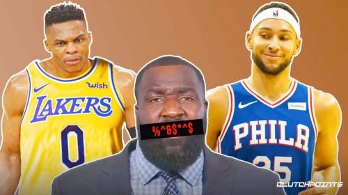 Ben Simmons over Lakers' Russell Westbrook in top 100 list has Kendrick Perkins fuming
