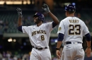 When healthy Lorenzo Cain, remains a quality contributor for the Brewers