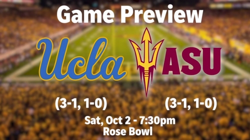 Sun Devils take on UCLA in a PAC-12 South matchup