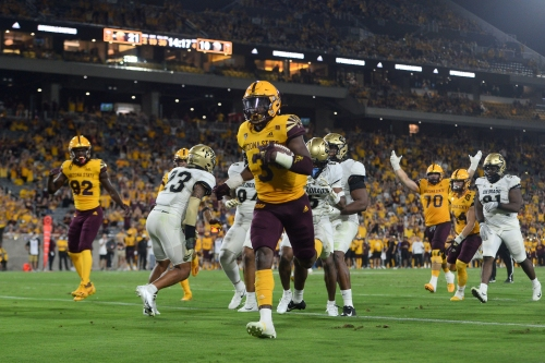 Versatile Arizona State running back Rachaad White doesn't mind being the workhorse