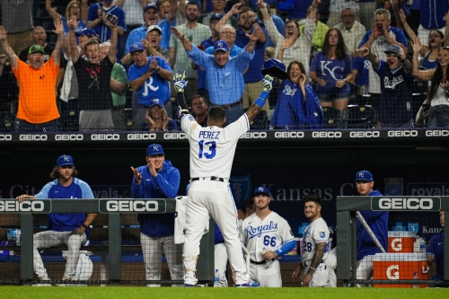 Salvy inches closer to history as Royals win 10-5