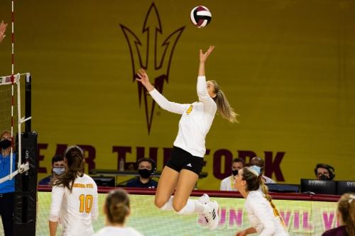 ASU Volleyball: No. 17 Stanford tops Arizona State 3-1