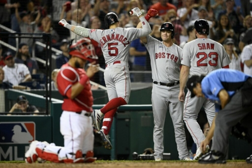 Red Sox rally in 9th, on brink of clinching wild-card berth