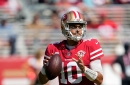 Garoppolo injured his calf during the first series; hopes to only miss a couple of weeks