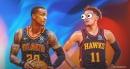 Trae Young reacts to Hawks star John Collins baptizing Jarrett Allen