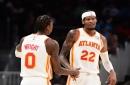 Hawks handle short-handed Heat, 127-92