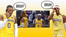 WATCH: Lakers' Russell Westbrook, Rajon Rondo link up for buzzer-beating Shaqtin moment