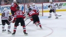 Jack Hughes spins in the slot and fires puck past Kevin Lankinen