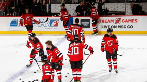 Devils, Blackhawks pay tribute to the late Jimmy Hayes