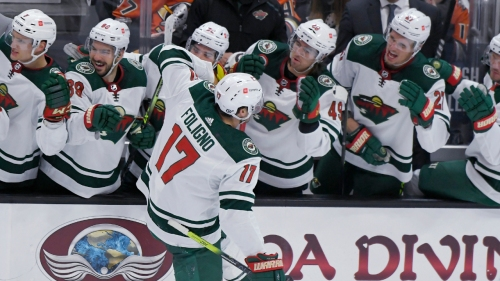 Foligno scores with 7.2 seconds left, giving Wild a narrow win over Ducks