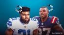Status of Ezekiel Elliott, Damien Harris for Cowboys-Patriots