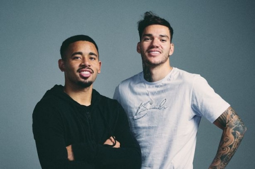 Man City duo Ederson and Gabriel Jesus appear at City Football Group club before Club Brugge fixture