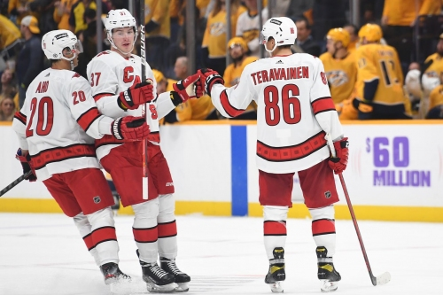 About Last Night: Canes ride goaltending, star power to road win