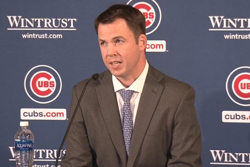 Carter Hawkins is introduced as Cubs General Manager