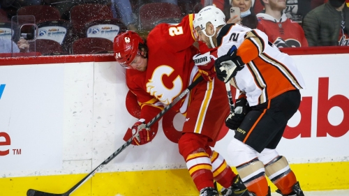 Flames drop home opener, falling to Ducks in overtime