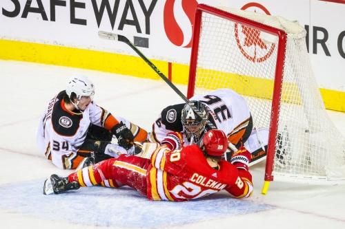 No Puck Luck vs Ducks, Flames Fall in OT