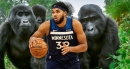Timberwolves star Karl-Anthony Towns fires himself up by watching gorillas fight to the death