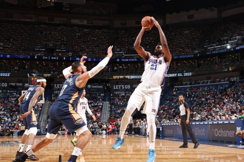Embiid, Simmons-less Sixers beat Pelicans in season opener