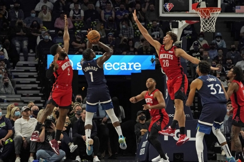 Rockets struggle in opener, fall 124-106 to Timberwolves