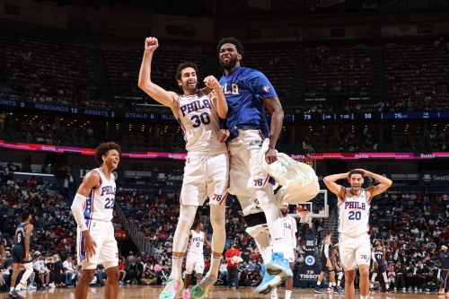 Coming in for a Landing podcast: Embiid looks nimble, Furk goes nuts, Sixers beat Pels